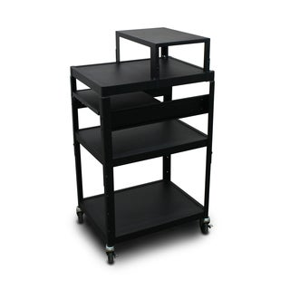 Marvel Vizion Adjustable Height Cart with Expansion Shelf and Front Pullout Shelf