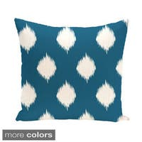 Geometric Print 18 x 18-inch Indoor/Outdoor Fabric Throw Pillow