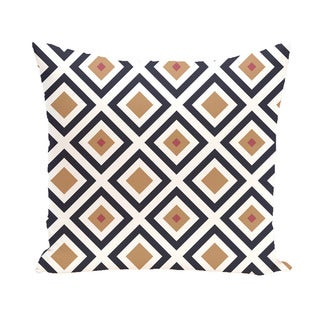 Geometric Print 18 x 18-inch Outdoor Fabric Pillow