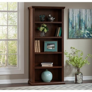 Bush Furniture Yorktown Bookcases in Antique Cherry - Set of Two