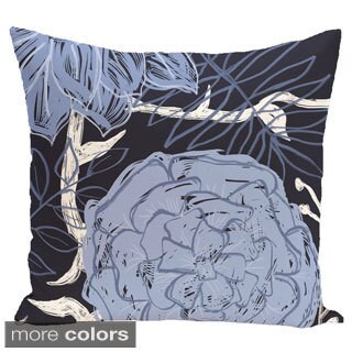 Floral Print 18 x 18-inch Outdoor Fabric Pillow