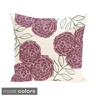 Floral Print 18 x 18-inch Outdoor Fabric Pillow (2 options available)