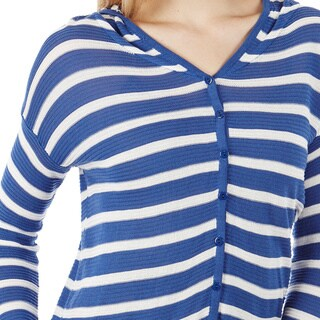 Dinamit Juniors Striped Hooded Cardigan