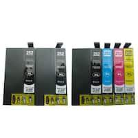 6-pack Replacing T252XL Ink Cartridge for Epson WF-3620 WF-3640 WF-7110 WF-7610 WF-7620 Printer
