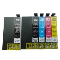 5-pack Replacing T252XL Ink Cartridge for Epson WF-3620 WF-3640 WF-7110 WF-7610 WF-7620 Printer