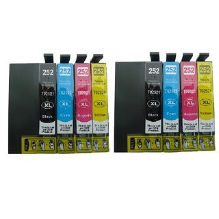 8-pack Replacing T252XL Ink Cartridge for Epson WF-3620 WF-3640 WF-7110 WF-7610 WF-7620 Printer