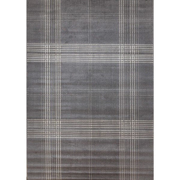 Colby Plaid Grey Area Rug By Greyson Living 7 9 X 10 6