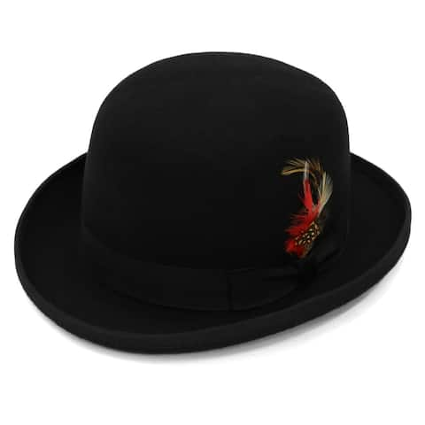 Ferrecci Premium Lined Wool Clockwork Orange-style Classic English Derby Hat