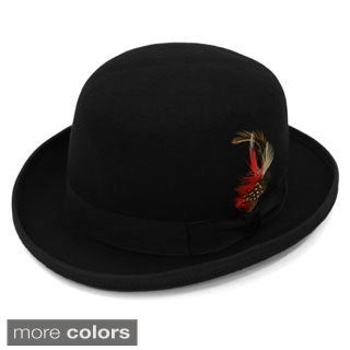 Ferrecci Premium Lined Wool Clockwork Orange Style Classic English Derby Hats