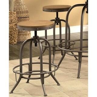 Franklin Nostalgic Distressed Wood Seat Adjustable Stools (Set of 2) - 2-Stools