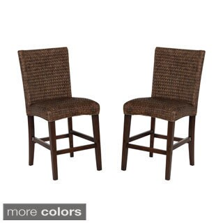 Montgomery Rattan Woven Counter height Stools (Set of 2)