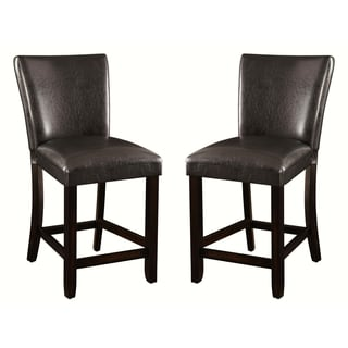 Heritage Cushion Upholstered Counter height Dining Stools (Set of 2)