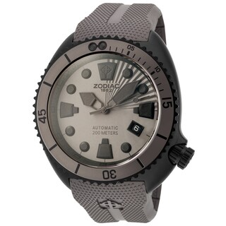 Zodiac ZO8014 Watch Oceanaire Mens Grey Dial Stainless Steel Case Automatic