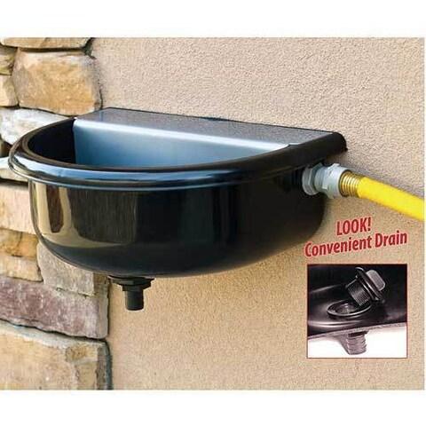 RPI Tough Guy Black Plastic Heavy-duty Automatic Float Pet 1.5-gallon Water Fountain