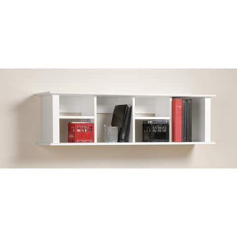Winslow White Wall Mounted Desk Hutch