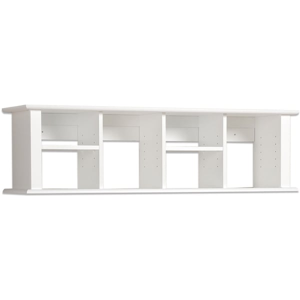 Winslow White Wall Mounted Desk Hutch Free Shipping