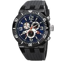 Joshua & Sons Sporty Men's Swiss Quartz Chronograph Grey Strap Watch