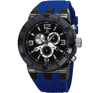 Joshua & Sons Sporty Men's Swiss Quartz Chronograph Blue Strap Watch