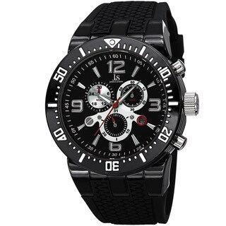Joshua & Sons Sporty Men's Swiss Quartz Chronograph Black Strap Watch