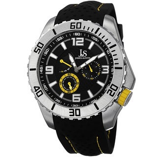 Joshua & Sons Men's Quartz Easy-to Read Multifunction Strap Watch - Yellow