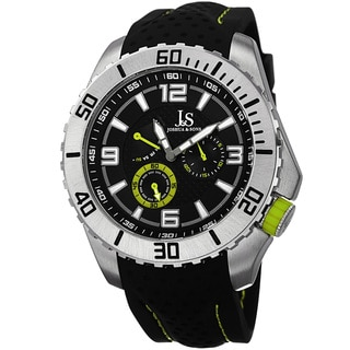 Joshua & Sons Men's Quartz Easy-to Read Multifunction Green Strap Watch