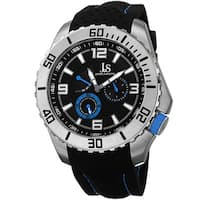 Joshua & Sons Men's Quartz Easy-to Read Multifunction Blue Strap Watch