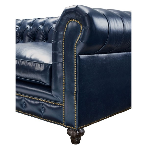 durango rustic blue leather sofa free shipping today