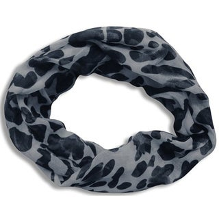 Peach Couture Two-tone Blue Animal Print Infinity Scarf