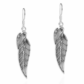 Handmade Nature's Autumn Leaf .925 Silver Dangle Earrings (Thailand)