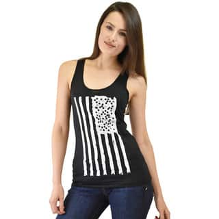 Le Nom Women's American Flag Tank Top with Laser Cut Back (Option: Xl)|https://ak1.ostkcdn.com/images/products/10156912/P17286195.jpg?impolicy=medium