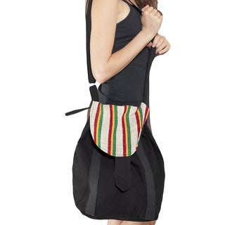 Rasta Black Stripe Messenger Purse (Nepal)