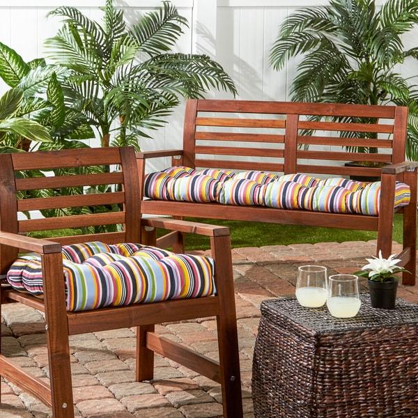 outdoor stripe sunbrella 20inch chair cushion free shipping on orders over 45 - Sunbrella Patio Furniture
