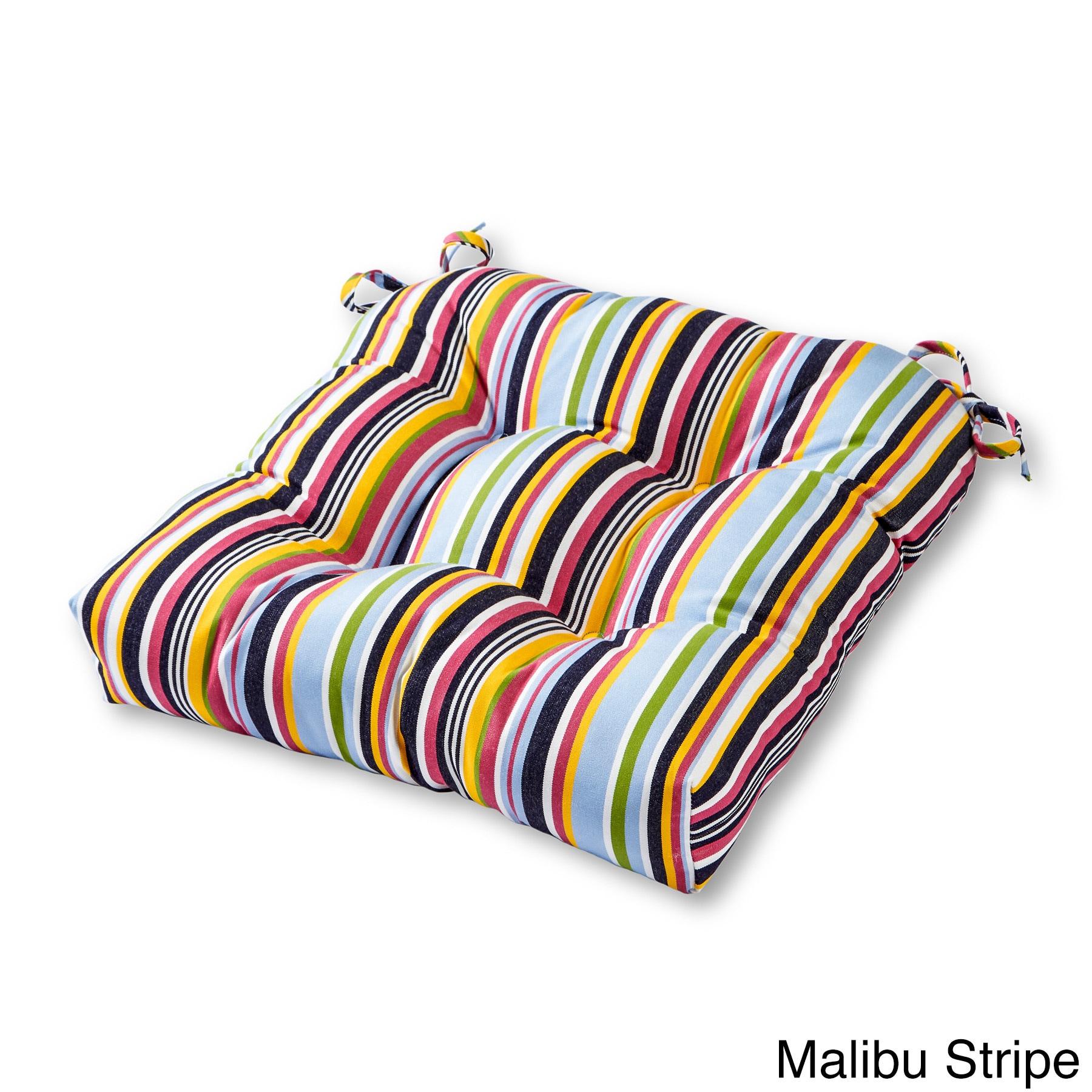 Outdoor Stripe Sunbrella 20 inch Chair Cushion Free Shipping