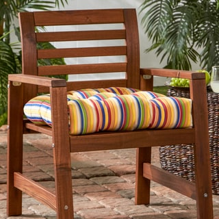 Outdoor Stripe Sunbrella 20-inch Chair Cushion