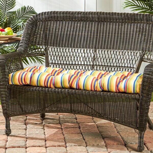 Greendale Sunbrella Outdoor Stripe Swing Bench Cushion 17 W X 46 L In