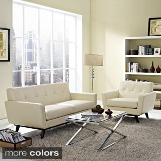 Absorb 2-piece Leather Armchair/ Loveseat Living Room Set