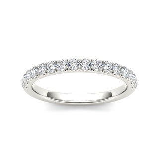 De Couer 14k White Gold 3/8ct TDW Diamond Wedding Band (H-I, I2)