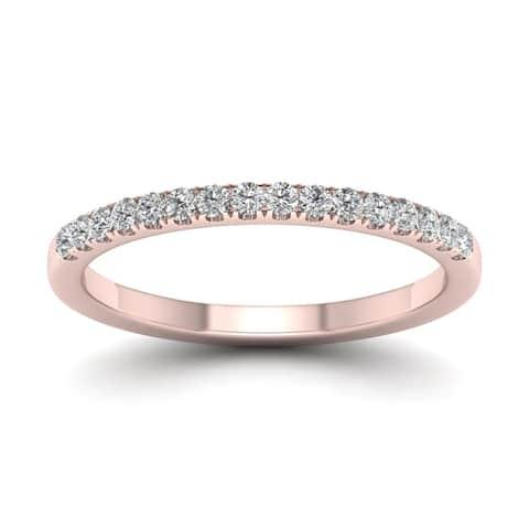 De Couer IGI Certified 14k Gold 1/5ct TDW Diamond Wedding Band
