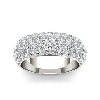 De Couer 14k White Gold 2ct TDW Diamond Wedding Band - White H-I