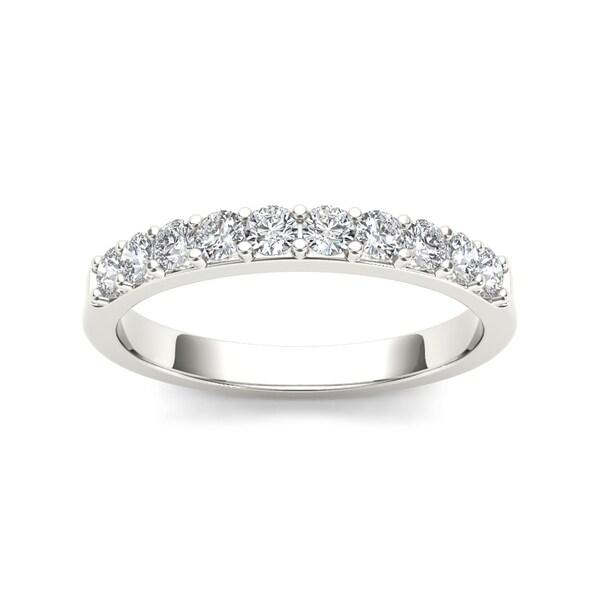 De Couer 14k White Gold 1/2ct TDW Diamond Wedding Band - White H-I