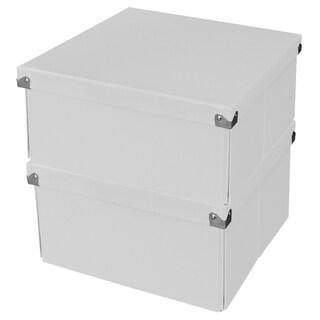 Samsill Pop n' Store Medium Square Box (Set of 2)