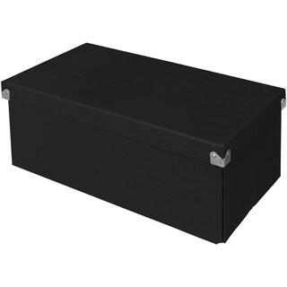 """Samsill Pop n' Store Essential Box - Black - 15.5""""x6""""x8.25"""""""
