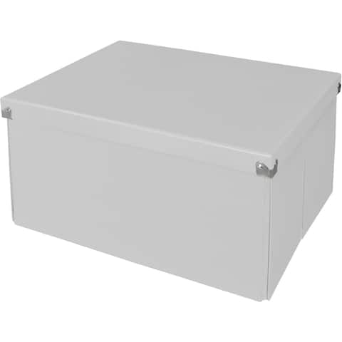 "Samsill Pop n' Store Mega Box - White - 15.5""x8.13""x12.63"""