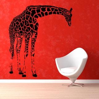 Black Giraffe Vinyl Sticker Wall Art
