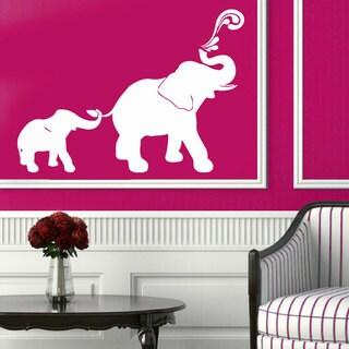 White Elephant Family Vinyl Sticker Wall Art