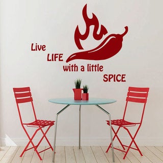 Red Chili Pepper Restaurant Vinyl Sticker Wall Art