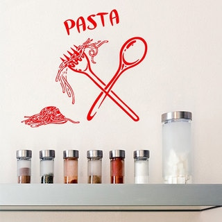 Red Pasta Restaurant Vinyl Sticker Wall Art