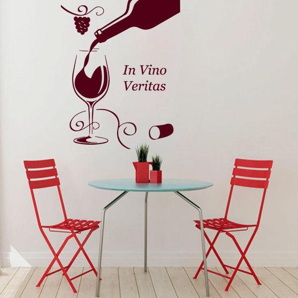 Shop Red In Vino Veritas Wine Grapes Vinyl Sticker Wall