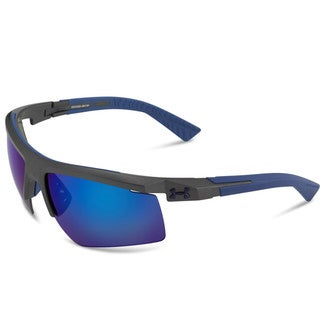 Under Armour Core 2.0 Satin Carbon Blue Multiflection Sunglasses