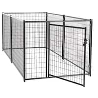 Lucky Dog™ 4'H x 5'W x 10'L Modular Kennel Welded Wire kit